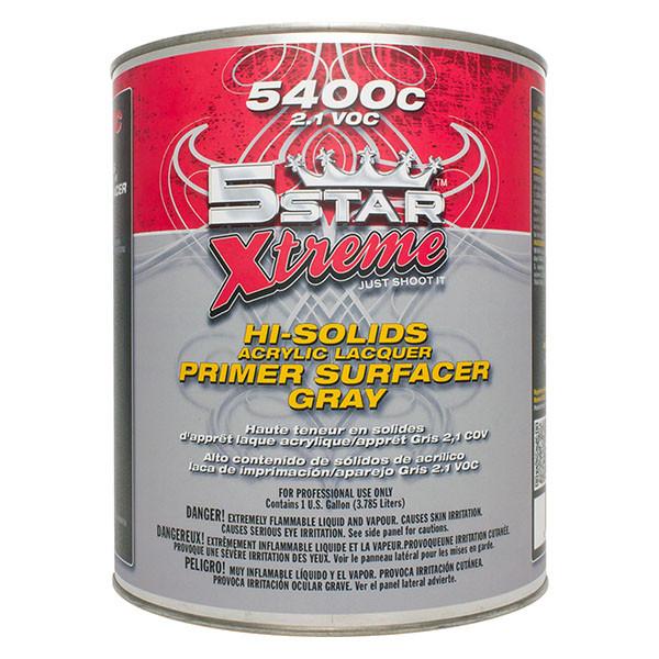5400C 21 VOC Hi Solids Acrylic Lacquer Primer Surfacer Gray CA Compl Category Value