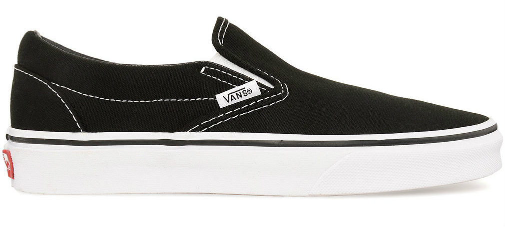 9acbd88d7e Vans Classic Slip On Black White - Golders Toowoomba