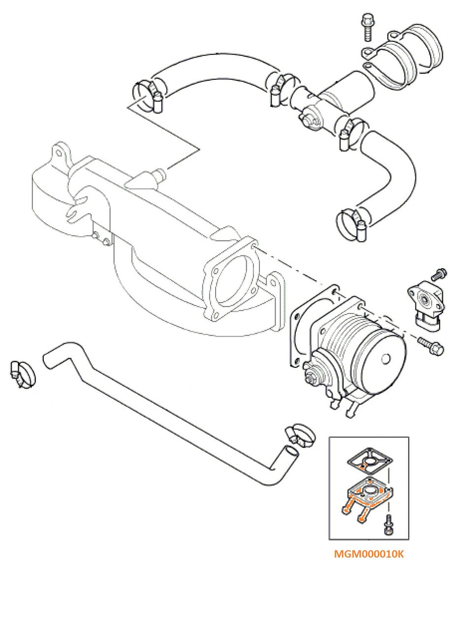 Land Rover Discovery II Range Rover Throttle Body Flange Repair Kit Allmakes 4x4