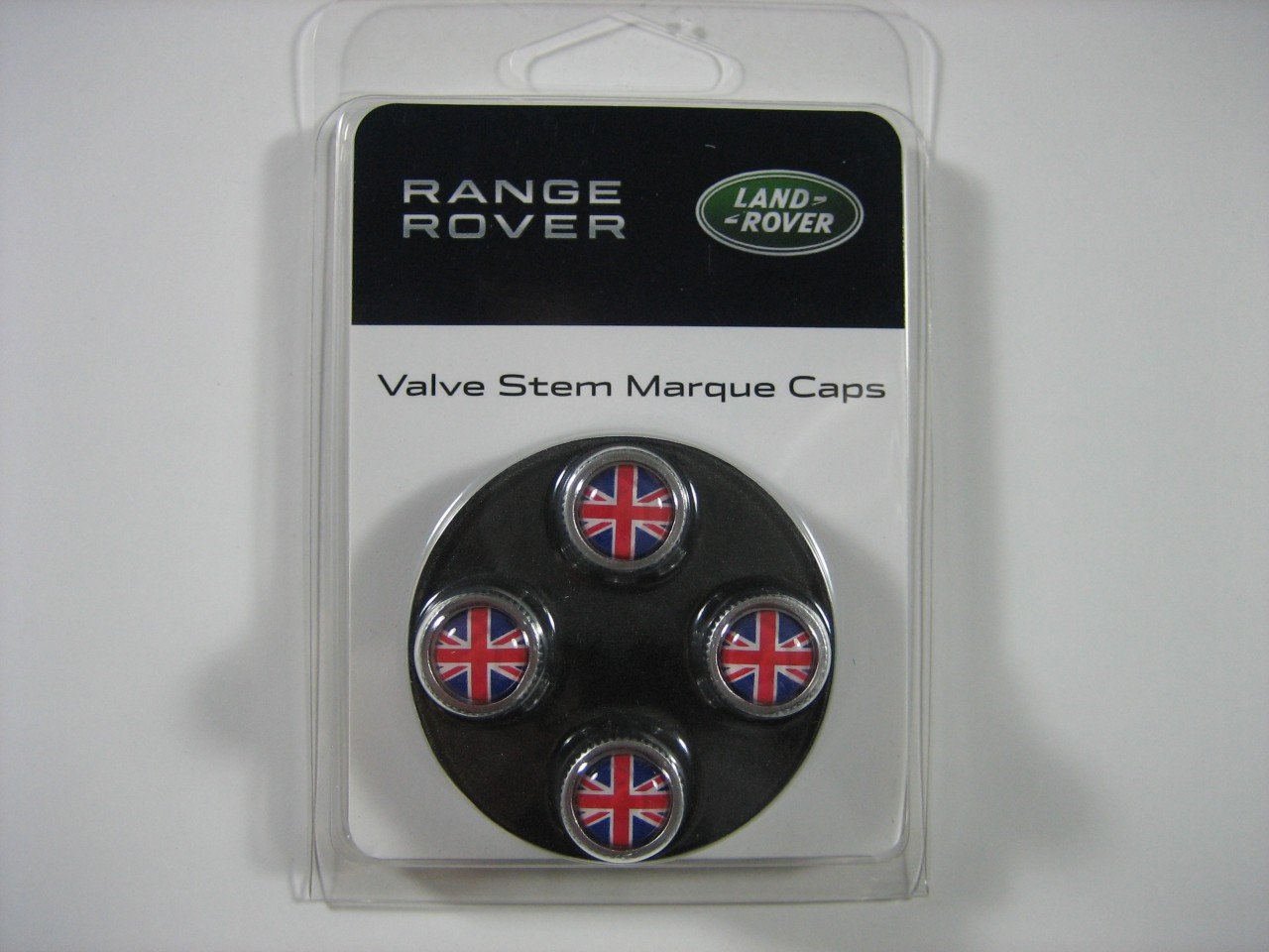Red and Blue Union Jack Valve Stem Cap Set