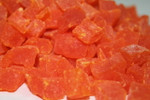 Diced Papaya