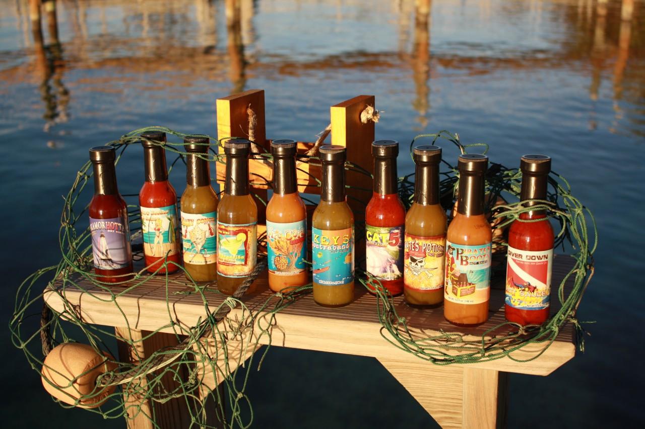 Hot Sauce Gift Set | 10 Pack Crate | Florida Keys Hot Sauce Co