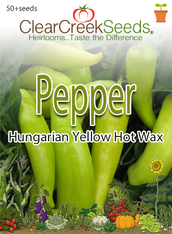 Pepper Hot- Hungarian Yellow Hot Wax (50+ seeds)