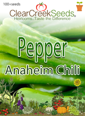 Pepper Hot - Anaheim Chili (100+ seeds) JUMBO PACK