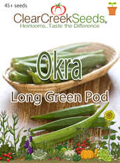 Okra - Long Green Pod (45+ seeds)