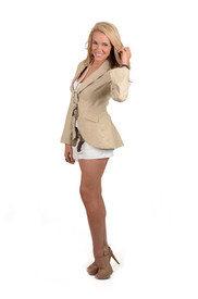 Union of Angels Taupe Tally Ho Jacket