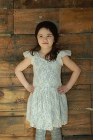 Girl and a Mouse - Ivory Skater Dress