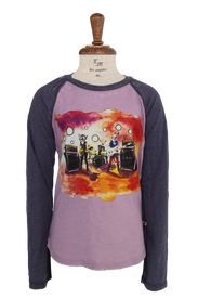 La Miniatura LS Ragalan Electric Band Tee - Bubble Gum