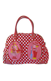 Room Seven Diaper Bag - Farm Girl and Boy Red