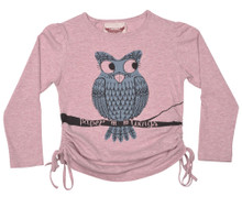 Paper Wings Owl Drawstring Tee