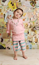 Swanky Baby Vintage Faiths Favorite Peasant Top - Cotton Candy