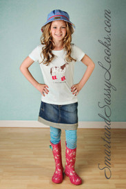 Little Joule Pink Printed Welly