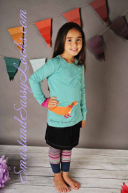 Little Joule Blue Applique LS Top