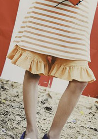 Persnickety Mae Short - Orange Dot Final Sale