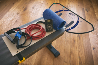"The HALO™ Kit converts most workout/weight lifting benches into a HALO swim-training bench. You can get great technique training and save time with home swim workout. HALO's unique template-guide system promotes the crucial ""high-elbow-catch"" and ""proper hand-pitch"" while  building strength and endurance and regulating tempo for your swims."