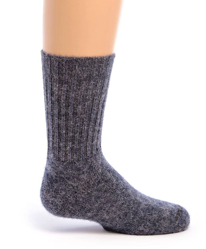Kid's Alpaca Socks Side Denim