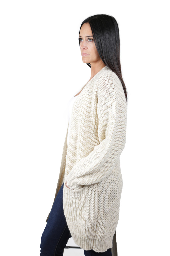 Forever Cardigan with Pockets Side