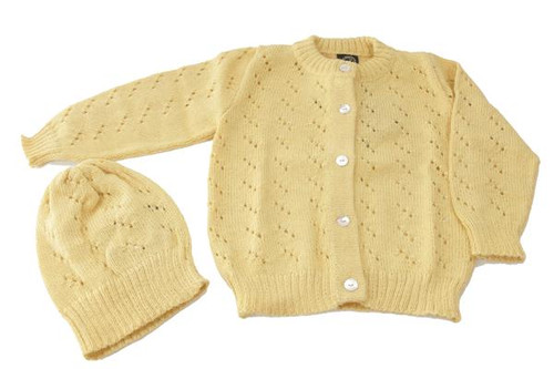 Infant Alpaca Cardigan Set