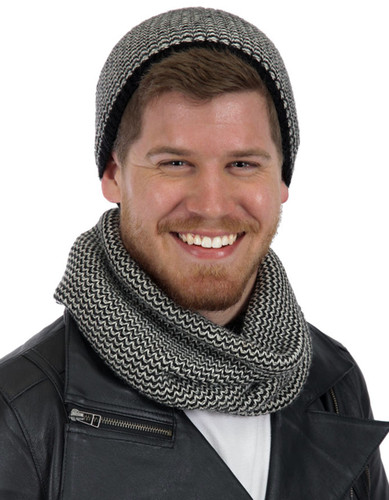Chevron Circle Scarf & Skull Cap - More Colors!