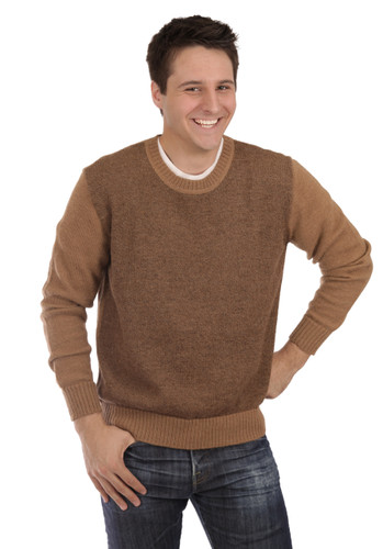 Men's Brad Round Neck Alpaca Sweater