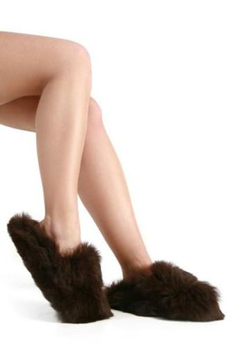 Alpaca Fur Slippers- Slip On / Clog
