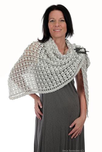 Rai Hand Crochet Alpaca Shawl