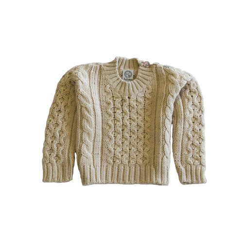 Boy's Cable Knit Crew Neck Pullover