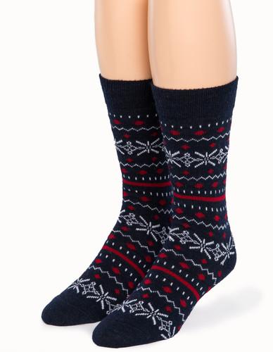 Fair Isle Crew Alpaca Socks