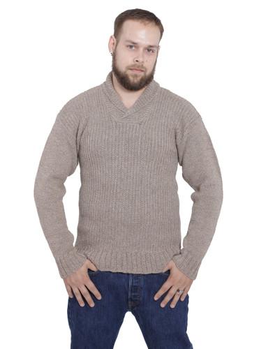 Dennet Men's Funnel Neck Alpaca Pullover