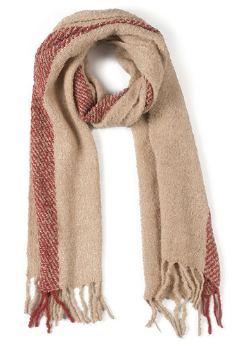 Whisper Soft - Single Stripe Nubby Scarf