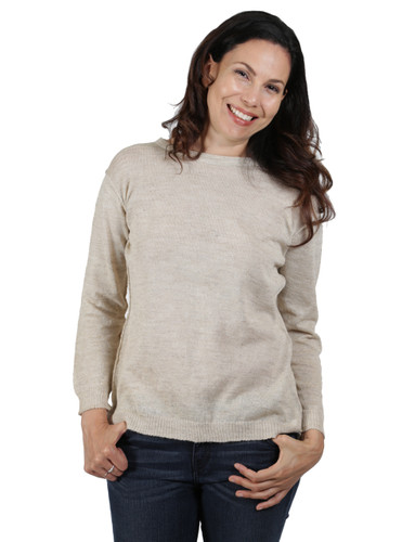 Beach Boat Neck Pullover Front