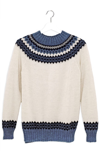 Baltic Sea Fair Isle Crew Pullover