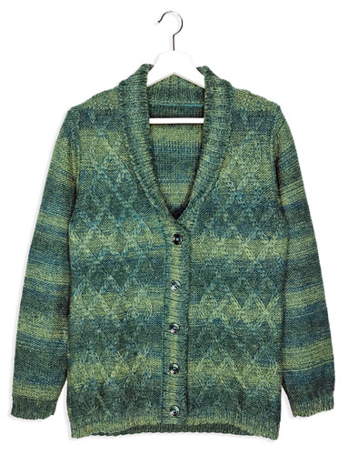 Lattice Knit Alpaca & Wool Cardigan
