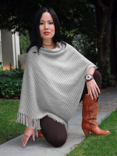 Ventura Alpaca Poncho on Model