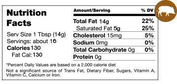 Boar Lard Nutrition Facts