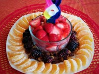 Fruit-Only Birthday 'Cake'