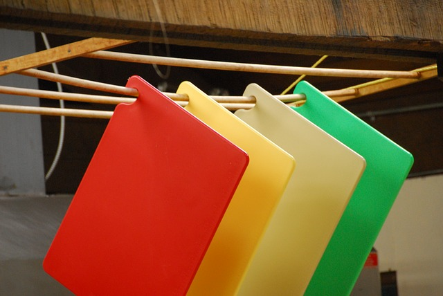 Color code your cutting boards to avoid cross-contaminating your foods