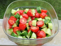 Super Easy Tomato and Cucumber Salad