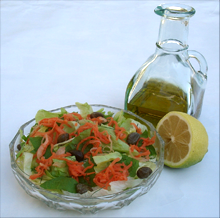Green salad with lemon & oil