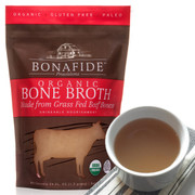 Traditionally-made real beef broth