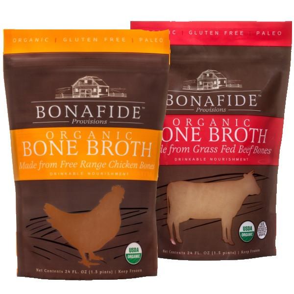 Chicken Stock And Beef Stock Real Organic Bone Broth Sampler