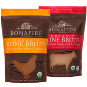 Traditionally-made real beef broth and chicken broth