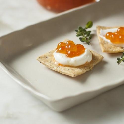 Salmon caviar (ikura), is a very nutrient-dense food.