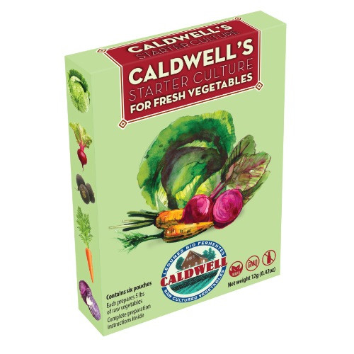 Vegetable Contains Caldwells starter culture for fermenting vegetables made specifically for fermenting vegetables now dairy free workwithnaturefo