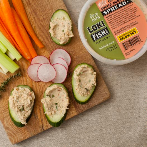 Delicious smoked salmon spread.