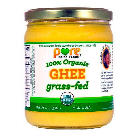 Organic ghee from grass-fed butter