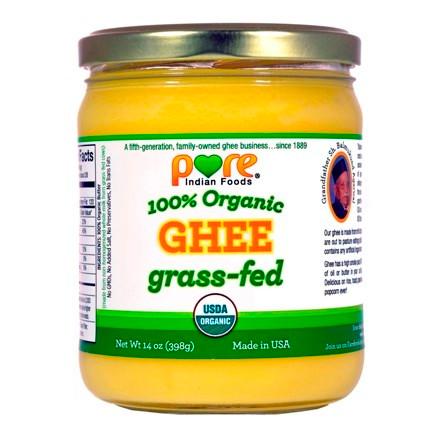 Organic ghee from grass-fed butter