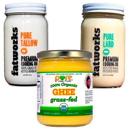 A trio of healthy traditional fats