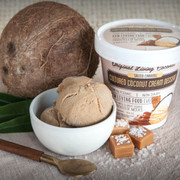 Dairy Free Cultured Coconut Ice Cream, Salted Caramel