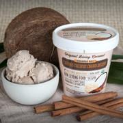 Dairy Free Cultured Coconut Ice Cream, Cinnamon Roll